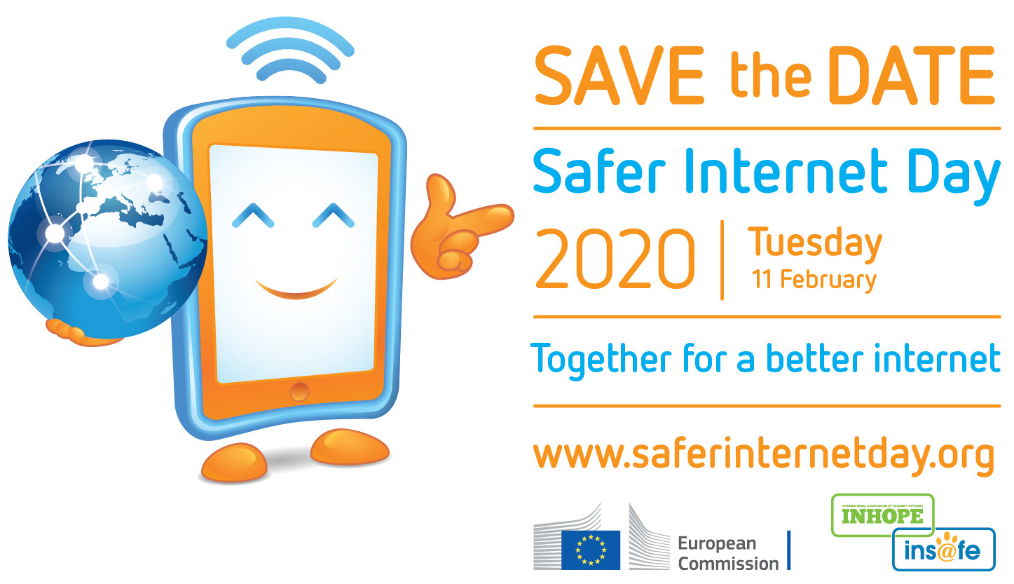 Safer Internet Day 2020 save the date logo